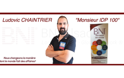 Ludovic CHAINTRIER, membre performant du Groupe BNI Progress Mulhouse