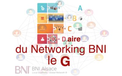 ABCDaire du Networking BNI : le G ….