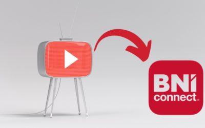 Intégration d'une vidéo dans son profil BNI Connect